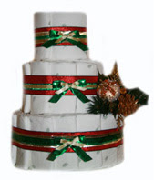 3 Tier Organic Christmas Diaper Cake