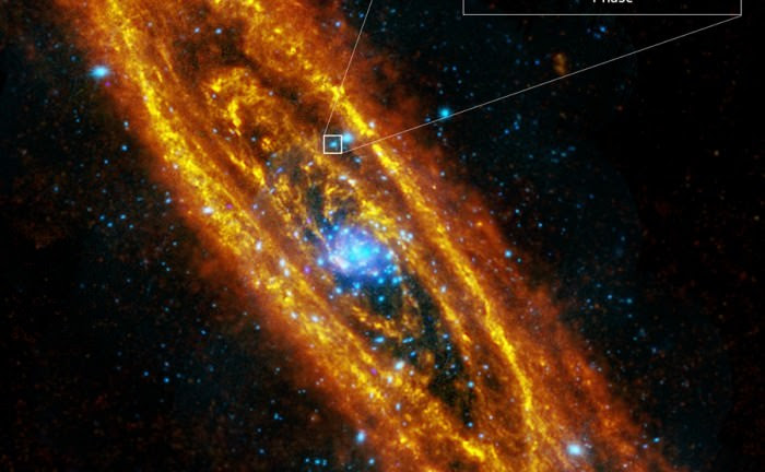 Andromeda's spinning neutron star. Though astronomers think there are over 100 million of these objects in the Milky Way, this is the first one found in Andromeda. Image: ESA/XMM Newton.