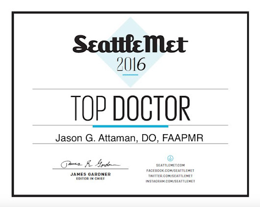 "Dr. Attaman is a 2016 Seattle Met Magazine ""Top Doctor"""
