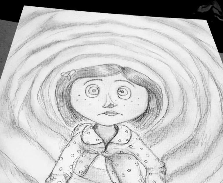 Coraline Drawing Drawing Tutorial Easy