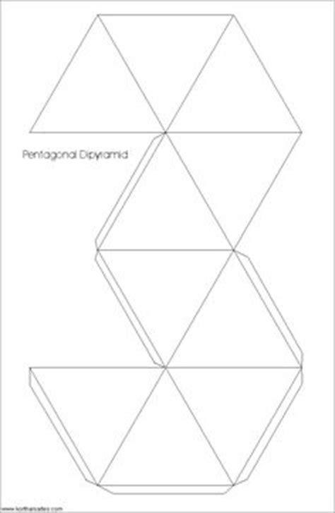 Net hexagonal pyramid   work it   Pinterest   Models