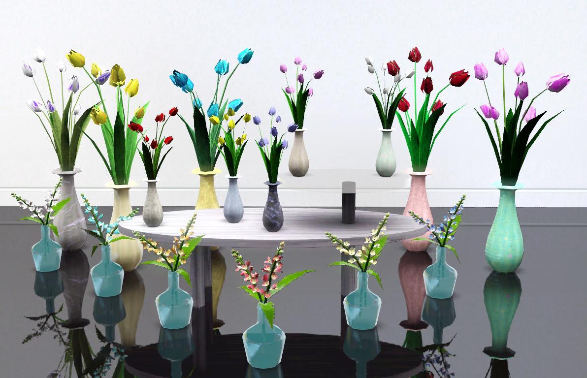 74 Flower Vase Sims 4 Cc