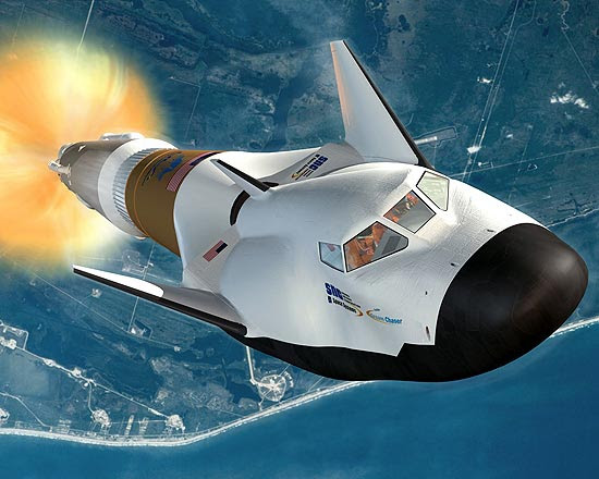 Concepção artística da Dream Chaser, nave da empresa americana Sierra Nevada Space Systems