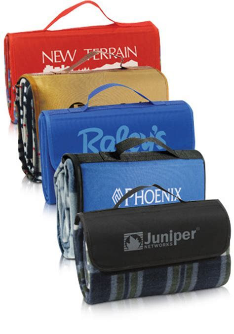 Printed Roll Up Easy Storage Picnic Blankets   CRPICNIC