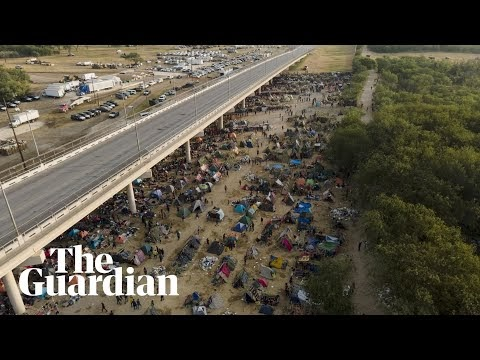 Migrants continue to cross into US as Kamala Harris criticises treatment by border patrol