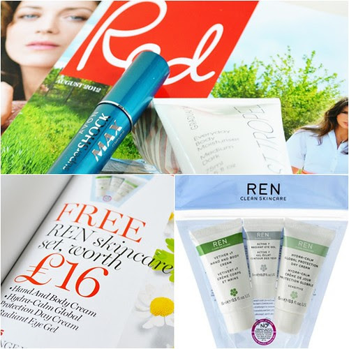 Red mag July August REN skincare freebie