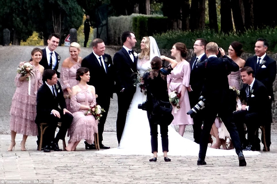 Wow: The twosome tied the knot in Montalcino, Italy; Montalcino is a commune in Tuscany, Italy