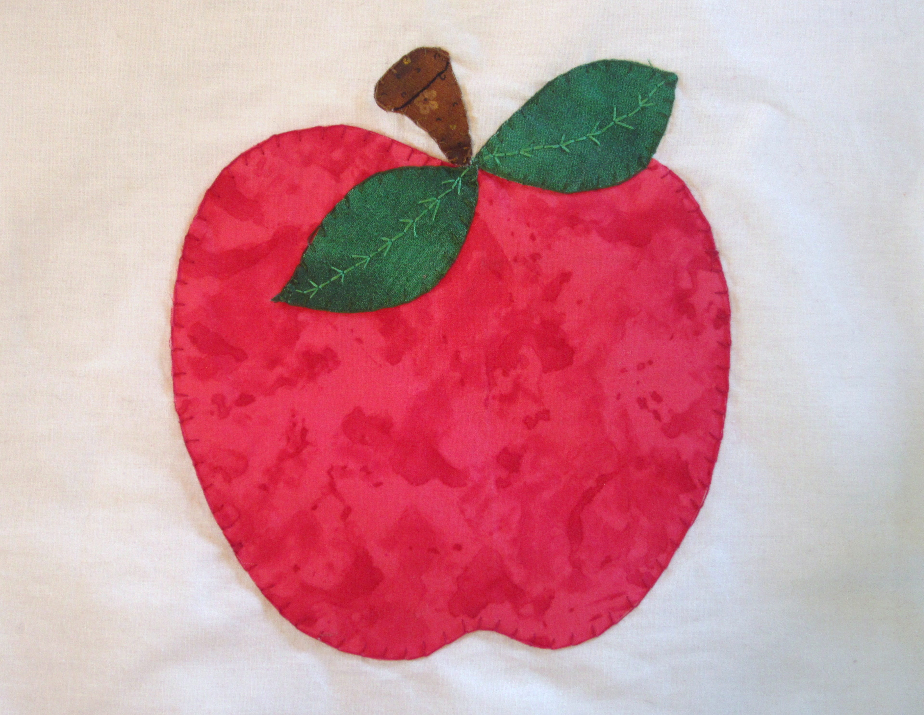 Embroidered Apple