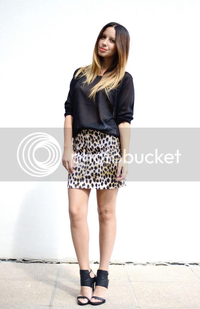 Leopard Denim Skirt, Alexander Wang on Friend in Fashion