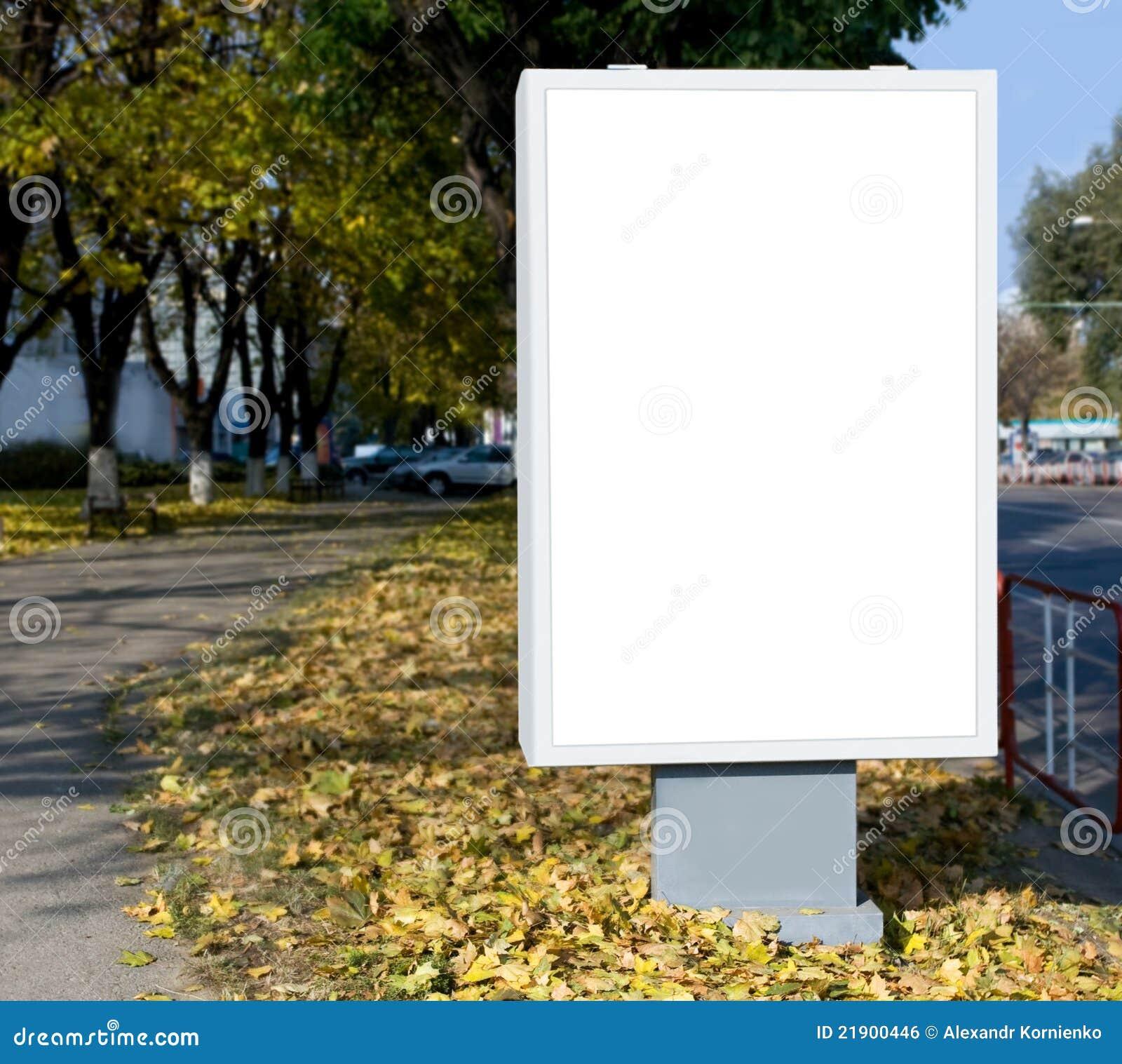 Vertical Blank Billboard Royalty Free Stock Image - Image: 21900446