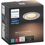 Philips Hue White ambiance - Ceiling recessed lamp - LED - 9.5 W (equivalent 72 W) - cool white light - white