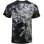 Konflic Men's All Over Print MMA Style Short Sleeve T-Shirts - Multiple Styles Konflict-AOP-T723BK-2XL