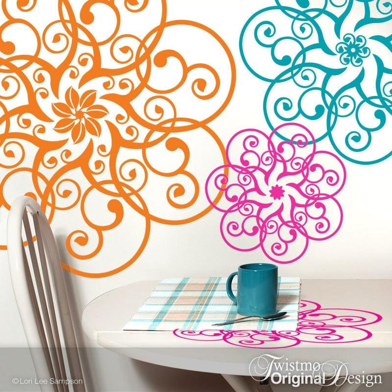 Vinyl Wall Decals Mandala Lace Doily Art Designs in by Twistmo
