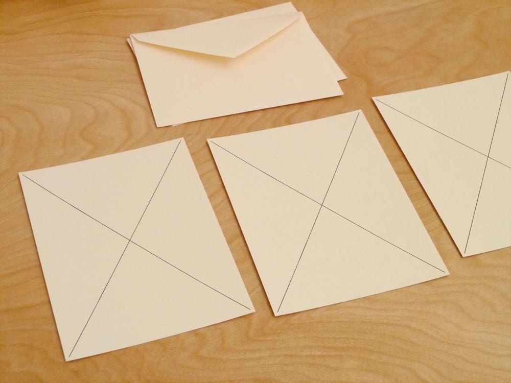 Letterpress Correspondence Stationery Set B / Claire Nereim
