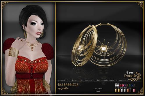 DANIELLE Taj Earrings Majestic