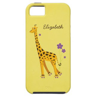 Tough Cartoon Giraffe Yellow Girly Personalized iPhone 5 Cases