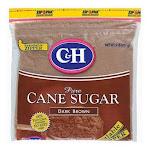 C&H Pure Dark Brown Cane Sugar - 2lbs