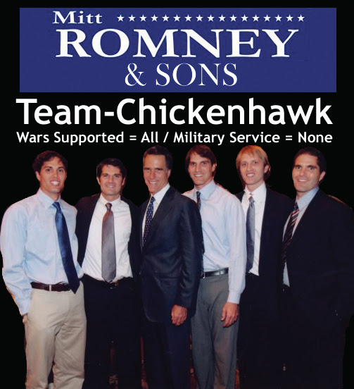 Mitt Romney and Sons - Team Chickehawk