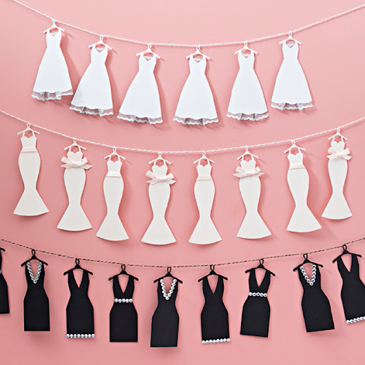 This Mini-Wedding Dress Bunting Banner Is Just TOO Cute!
