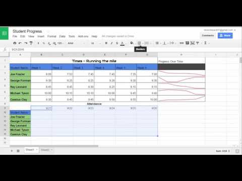 Tracking Student Progress and Attendance in Google Sheets