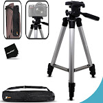 Durable Pro Series 60 inch Full size Tripod with 3 way Pan-Head, Bubble level...
