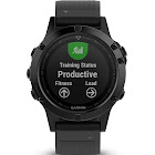 "Garmin fenix 5 Sapphire Multisport GPS Watch - 1.2"" Display - Black with Black Band"
