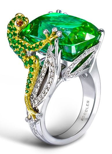 Boodles - this has got to be one of the most unique rings I've seen. Can you imagine this as an engagement ring? To my princess from your very own frog prince... :P