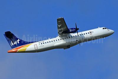 LIAT-The Caribbean Airline ATR 72-600 (ATR 72-212A) V2-LIA (msn 1077) TLS (Eurospot). Image: 912536.