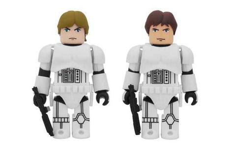 medicom toy kubrick luke skywalker han solo stormtrooper 2 pack MEDICOM TOY KUBRICK Luke Skywalker & Han Solo Stormtrooper 2 Pack