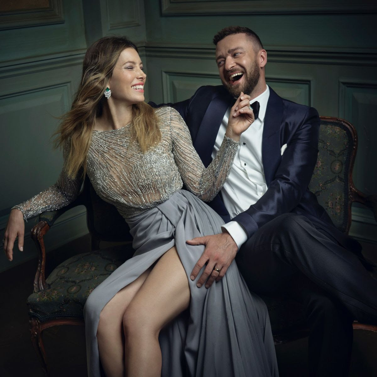 JESSICA BIEL by Mark Seliger for 2016 Vanity Fair Oscar Party