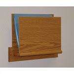 Wooden Mallet Open End Chart Holder with Square Bracket in Light Oak - OCHS15-1LO
