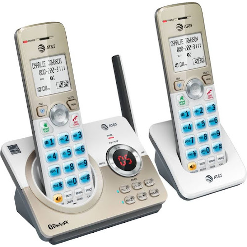 VTech - at DL72219 DECT 6.0 Expandable Cordless Phone System with Digital Answering System - White/Champagne