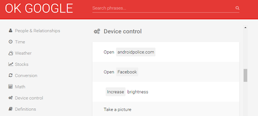 Amazing site lists nearly every 'OK Google' voice command