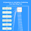 Questions To Ask Before You Publish a Blog Post : @ProBlogger