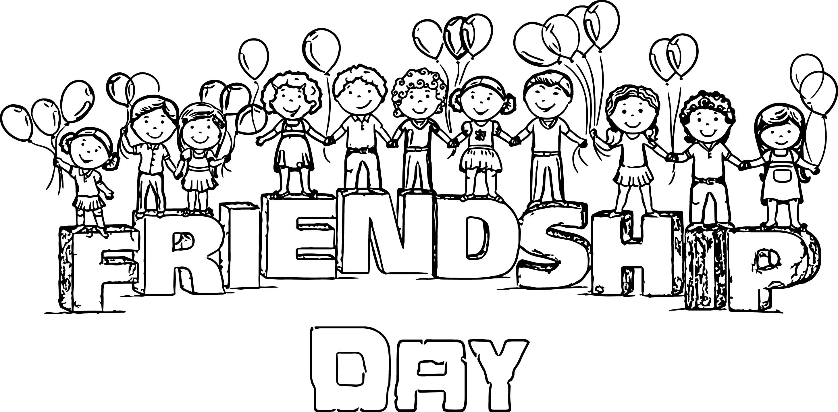- Happy Friendship Day Images For My Beautiful Friends Coloring Page