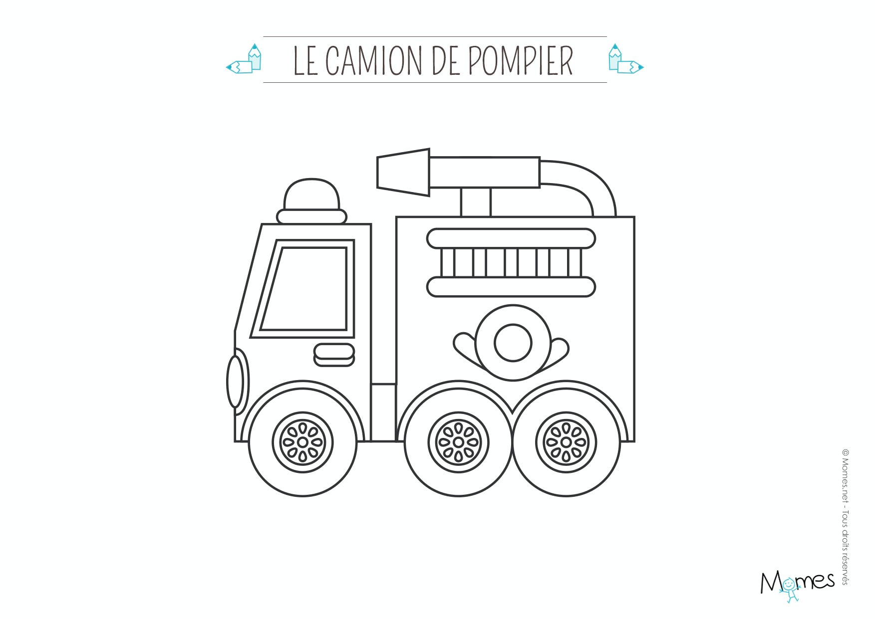 Coloriage Camion Pompier Maternelle See More On Camijou