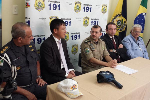 Em coletiva de imprensa, autoridades detalharam investimentos da PRF