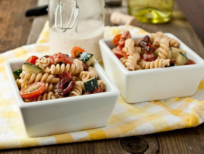 Creamy Greek Pasta Salad | Dessert for Two