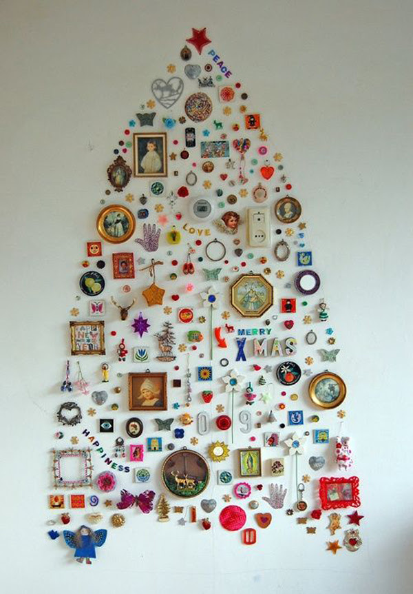 25 Simple and Creative Christmas Trees in The Wall | House Design And Decor