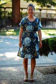 Rosy Date Night Dress Front again