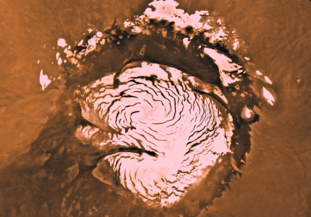 The existence of the Red Planet's poles support the theory that Mars once had a wet and warm history. Image Credit: NASA