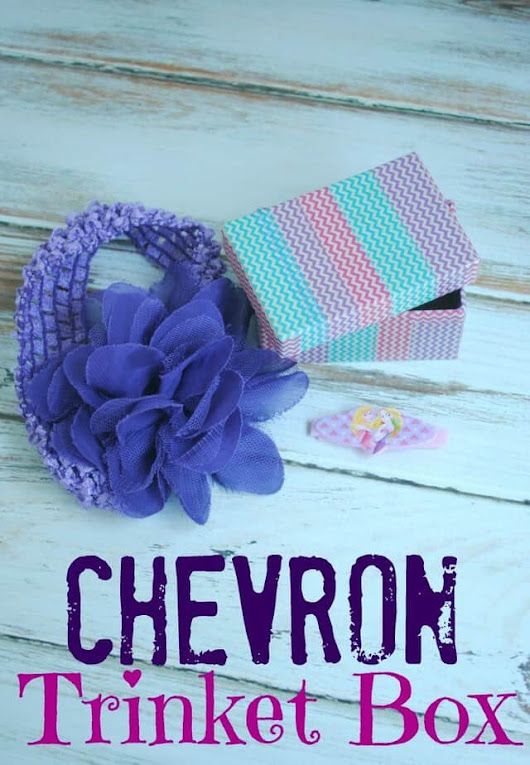 How to make a DIY Chevron Trinket Box with washi tape