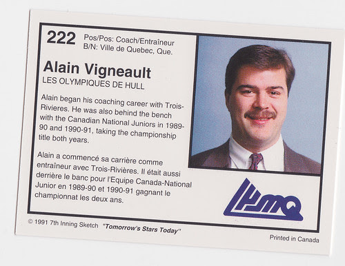 Coach - Alain Vigneault Back