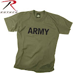 Rothco Kids Army Physical Training T-Shirt Olive Drab