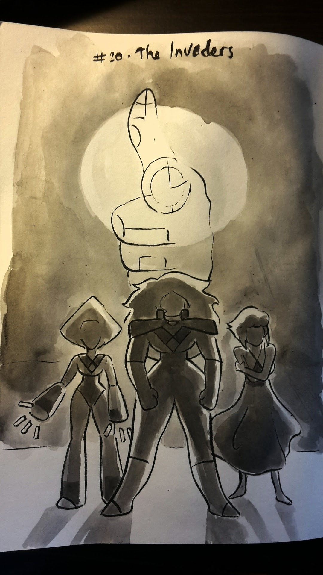 Inktober 2017, Space Travellers themed #20 - The Invaders