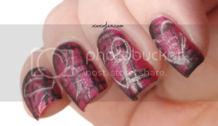 xoxoJen Valentine Nail Art