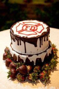 Firefighter wedding cake   Firefighter Wedding 2015 in