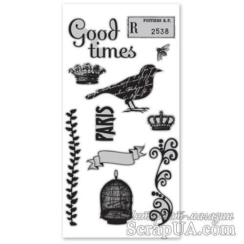 Набор резиновых штампов Hampton Art/7 Gypsies - Birdsong, с оснасткой - ScrapUA.com