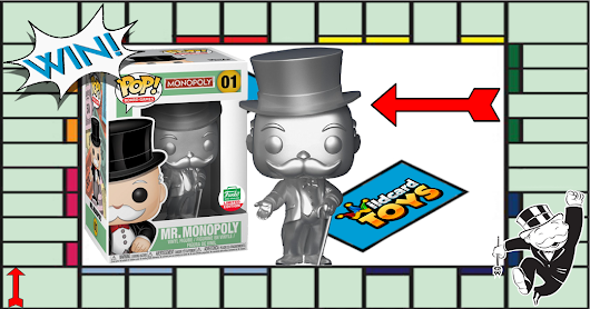 Wildcard Toys - Silver Mr. Monopoly Funko Shop 12 Days of Christmas Exclusive