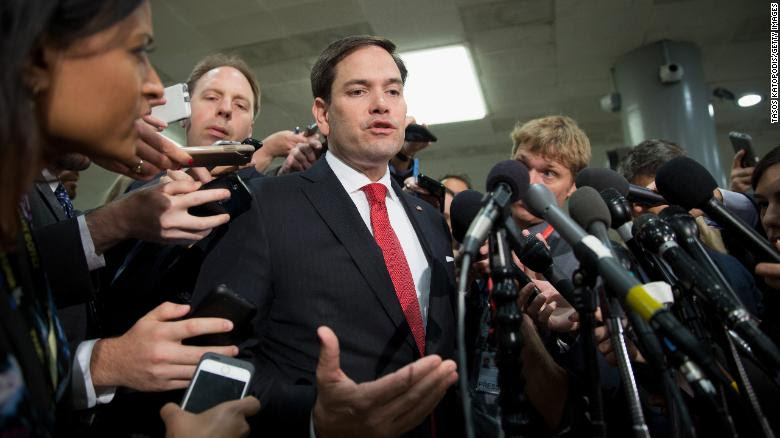 Marco Rubio defends Trump's promise of 'fire and fury' for North Korea